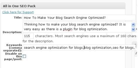 Using All in One SEO for Blog Optimization