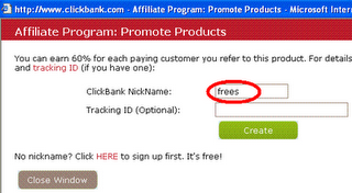 Create HopLink in ClickBank