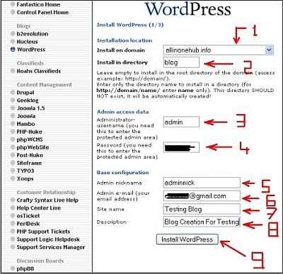 Wordpress Installation Tutorial